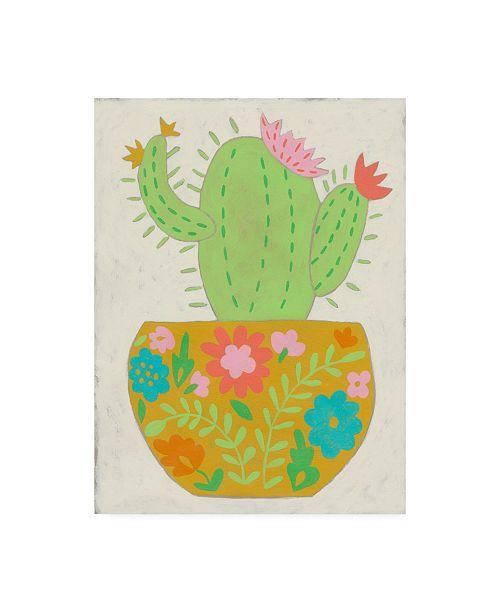 "Trademark Global Chariklia Zarris Happy Cactus II Canvas Art - 27"" x 33.5"""
