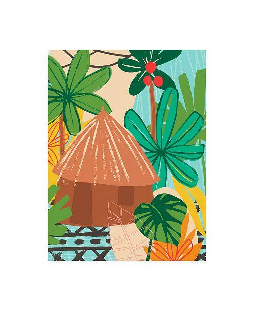 "Trademark Global June Erica Vess Graphic Jungle V Canvas Art - 15.5"" x 21"""