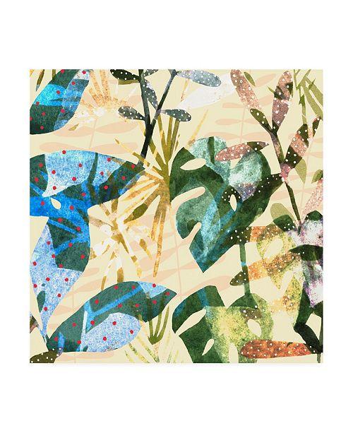 "Trademark Global Emma Scarvey Technicolor Jungle IV Canvas Art - 15.5"" x 21"""