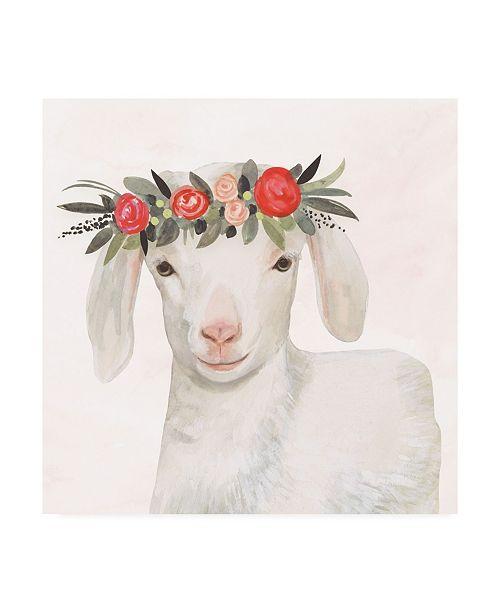 "Trademark Global Victoria Borges Garden Goat IV Canvas Art - 36.5"" x 48"""
