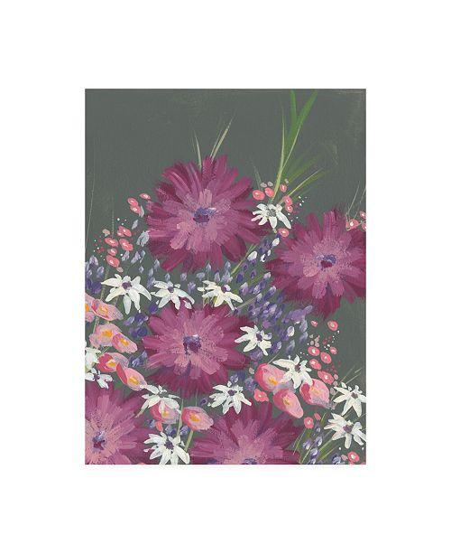 "Trademark Global Regina Moore Mauve Wildflower Garden I Canvas Art - 15.5"" x 21"""