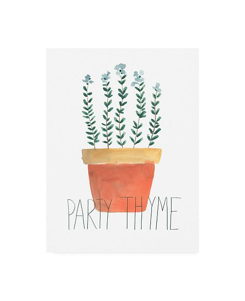 "Trademark Global June Erica Vess Punny Plant IV Canvas Art - 27"" x 33.5"""