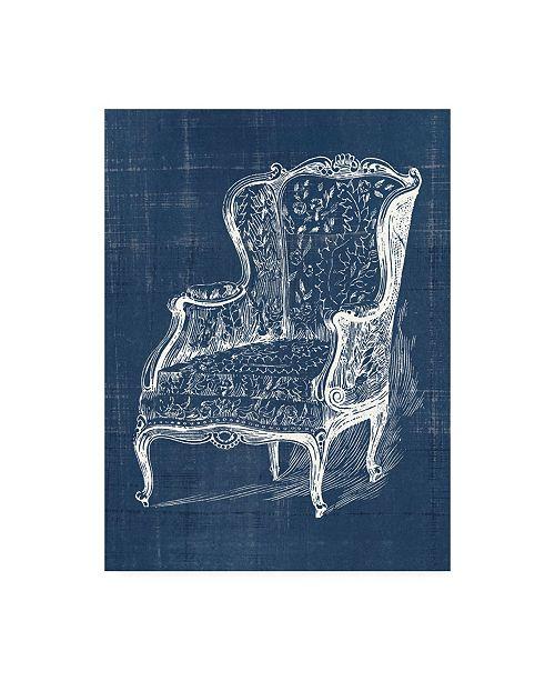 "Trademark Global Vision Studio Antique Chair Blueprint III Canvas Art - 15.5"" x 21"""