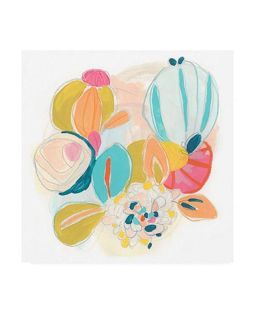 "Trademark Global June Erica Vess Floral Vibe IV Canvas Art - 19.5"" x 26"""