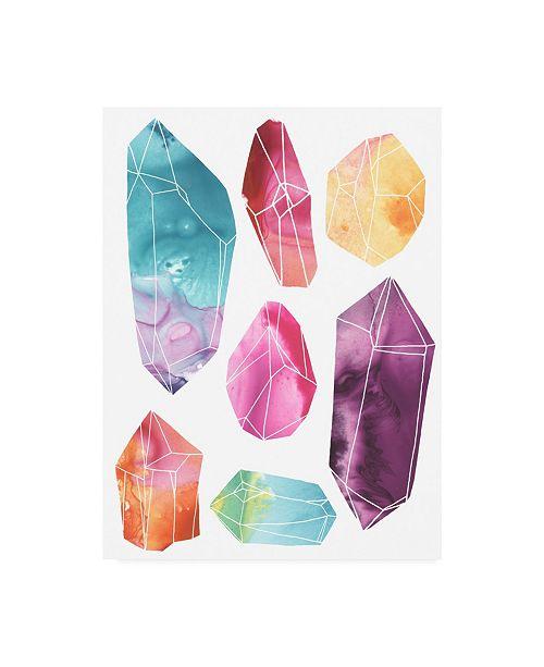 "Trademark Global June Erica Vess Prism Crystals I Canvas Art - 15.5"" x 21"""