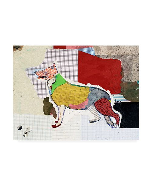 "Trademark Global Michel Keck German Shepherd Abstract Canvas Art - 27"" x 33.5"""