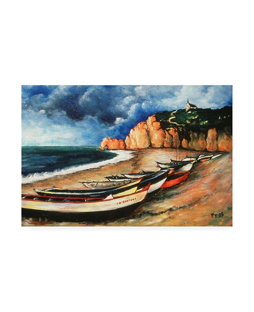 "Trademark Global Peter Potter Normandy Coast Canvas Art - 15.5"" x 21"""