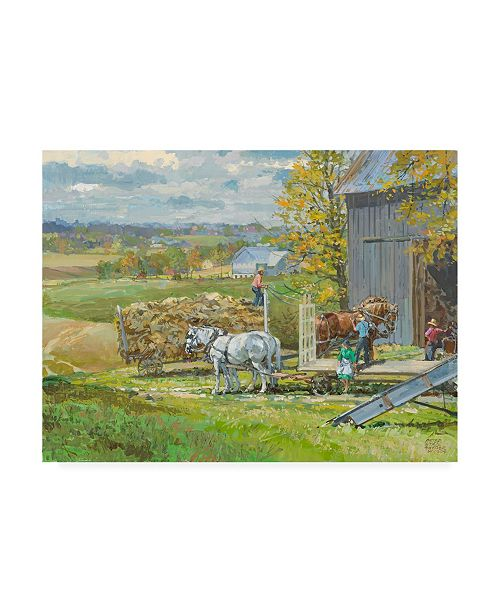 "Trademark Global Peter Snyder Another Load Canvas Art - 15.5"" x 21"""