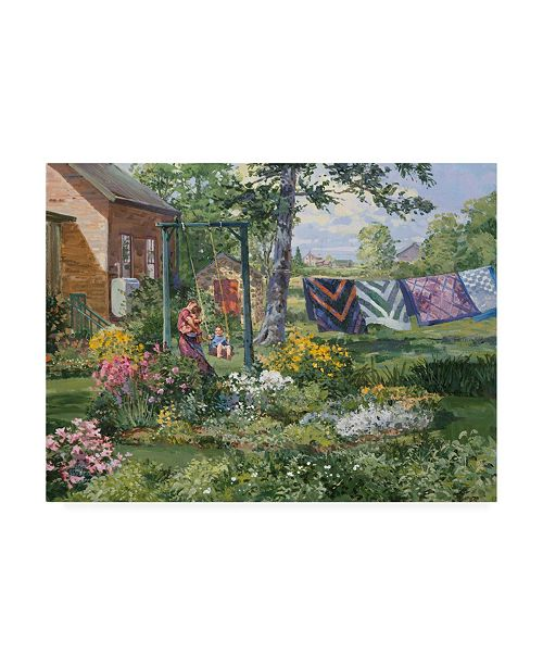 """Trademark Global Peter Snyder Quilts Canvas Art - 27"""" x 33.5"""""""
