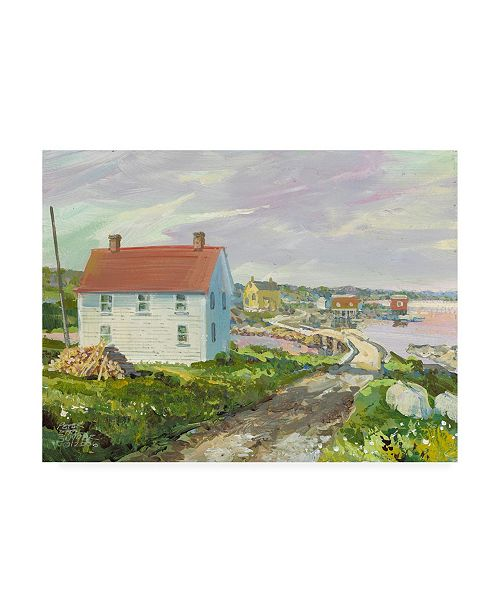 "Trademark Global Peter Snyder Small Bridge at Badgers Quay Canvas Art - 27"" x 33.5"""