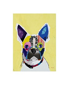 "Michel Keck Boston Terrier Abstract Canvas Art - 36.5"" x 48"""