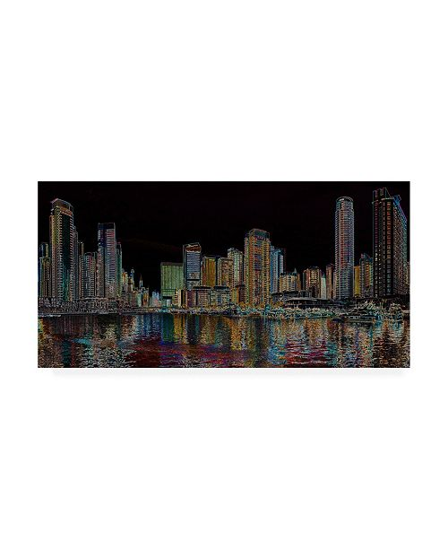 "Trademark Global Ellicia Amando Boston Glowing Canvas Art - 36.5"" x 48"""