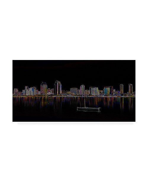"Trademark Global Ellicia Amando San Diego Glowing Canvas Art - 36.5"" x 48"""