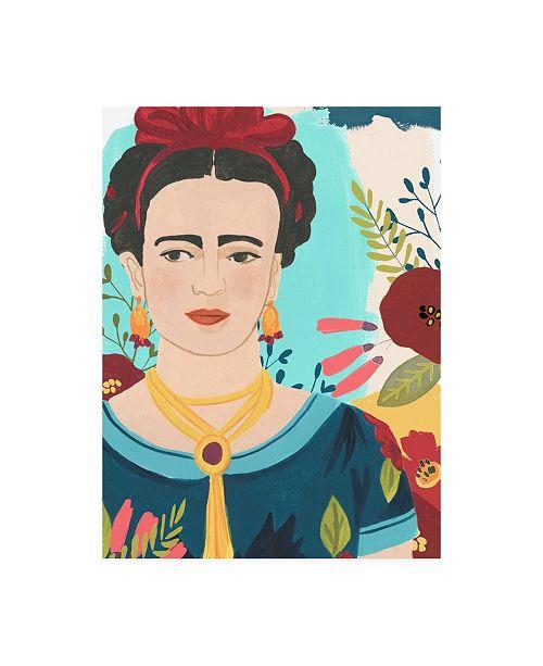 "Trademark Global June Erica Vess Frida's Garden I Canvas Art - 27"" x 33.5"""