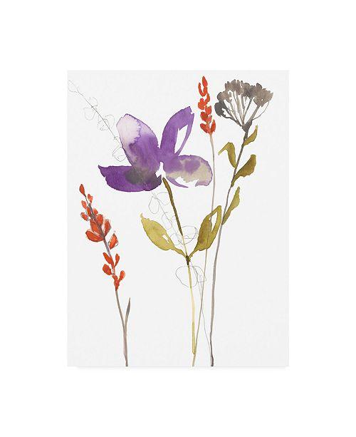"""Trademark Global Jennifer Goldberger Ultraviolet Bouquet II Canvas Art - 36.5"""" x 48"""""""