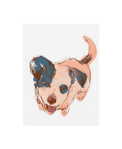 "Trademark Global June Erica Vess Dog Portrait Maisie Canvas Art - 27"" x 33.5"""