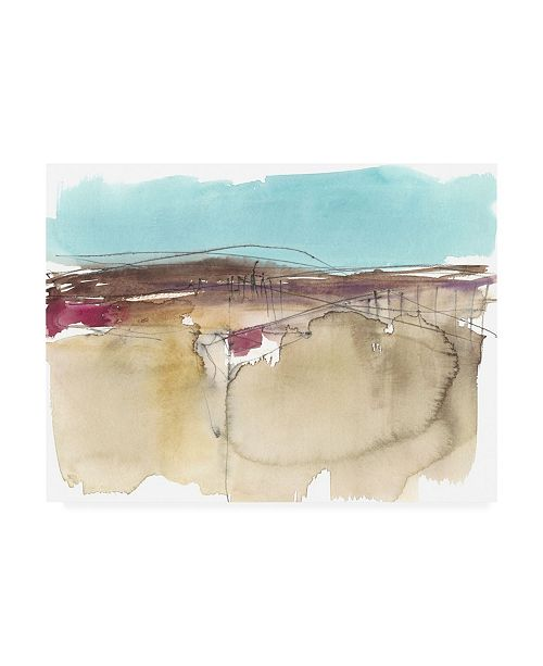 "Trademark Global Jennifer Goldberger Horizon Schematic II Canvas Art - 27"" x 33.5"""