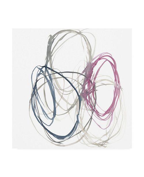 """Trademark Global Jennifer Goldberger Magenta Rounds II Canvas Art - 15.5"""" x 21"""""""