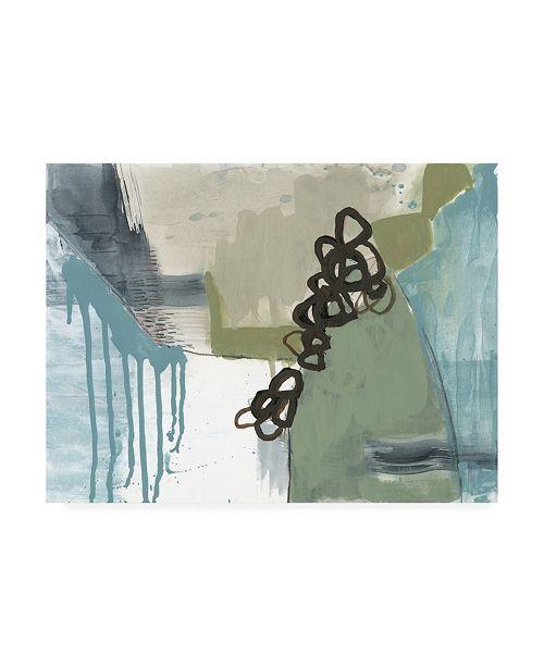"Trademark Global Jennifer Goldberger Umber Links II Canvas Art - 36.5"" x 48"""