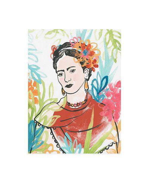 "Trademark Global June Erica Vess Portrait of Frida I Canvas Art - 27"" x 33.5"""