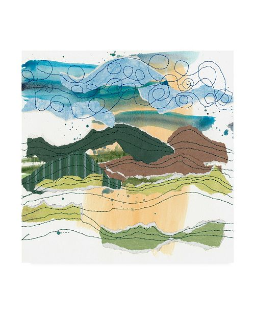 "Trademark Global Regina Moore Stitched Landscape I Canvas Art - 15.5"" x 21"""