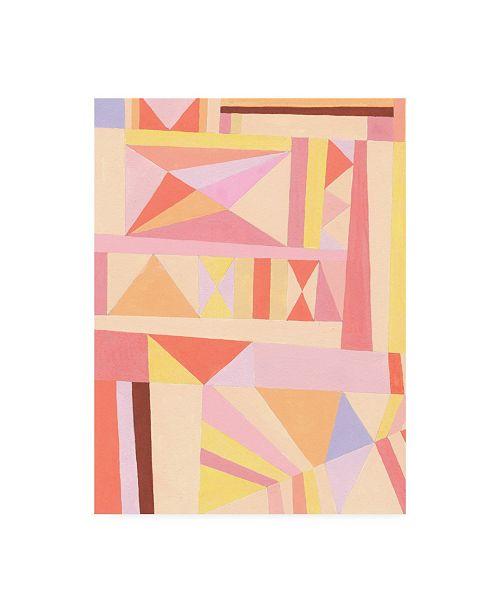 "Trademark Global Nikki Galapon Blush Structure I Canvas Art - 15.5"" x 21"""