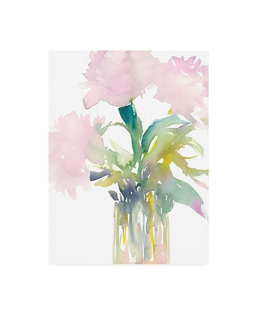 """Trademark Global Samuel Dixon Pink Flowers in Vase Canvas Art - 15.5"""" x 21"""""""