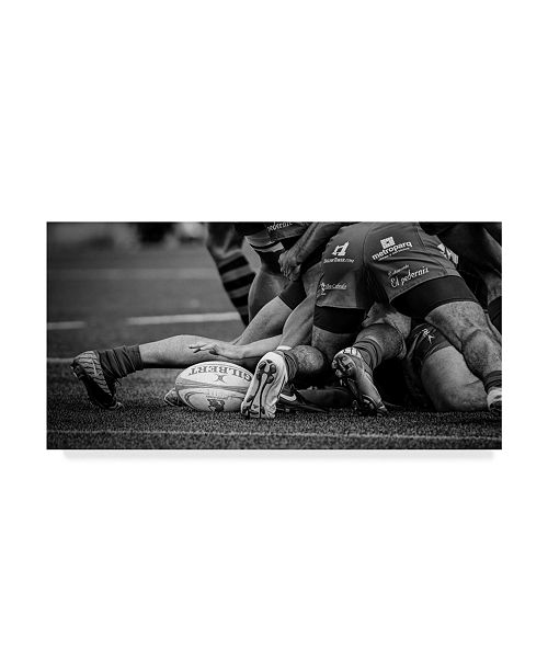 """Trademark Global Cesar March Rugby Tackle Canvas Art - 15"""" x 20"""""""