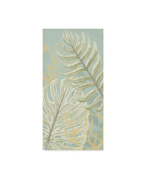 "Trademark Global June Erica Vess Palm and Coral Panel I Canvas Art - 37"" x 49"""