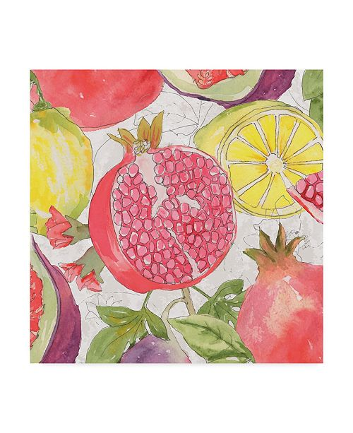 "Trademark Global Leslie Mark Fruit Medley II Canvas Art - 15"" x 20"""