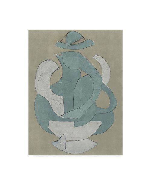 "Trademark Global Rob Delamater Abstract Vessel IV Canvas Art - 20"" x 25"""