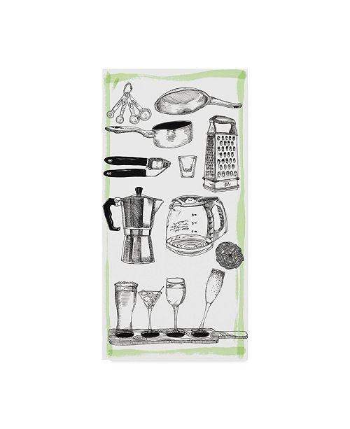 "Trademark Global Melissa Wang Kitchen Display I Canvas Art - 20"" x 25"""