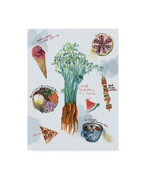 "Trademark Global Melissa Wang Food Sketches I Canvas Art - 37"" x 49"""