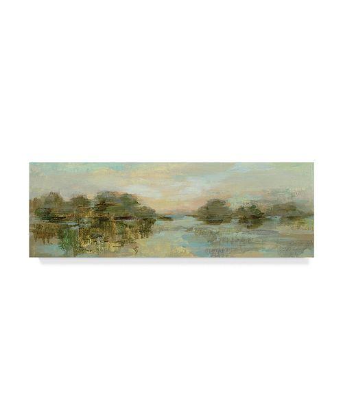 "Trademark Global Silvia Vassileva Dreamy Lake Green Crop Canvas Art - 37"" x 49"""