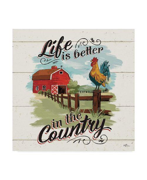 "Trademark Global Janelle Penner Farm Life III on Wood Canvas Art - 15"" x 20"""