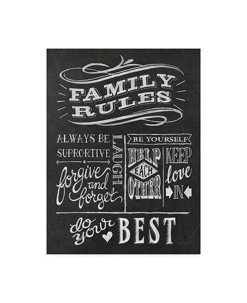 """Trademark Global Mary Urban Family Rules I V2 Canvas Art - 37"""" x 49"""""""