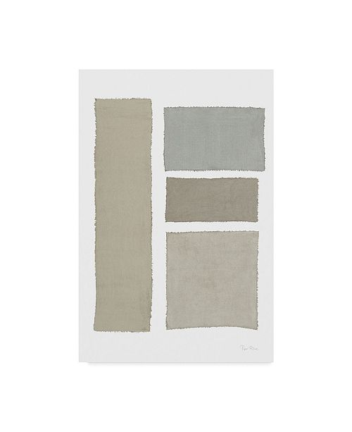 """Trademark Global Piper Rhue Painted Weaving III on White V2 Canvas Art - 20"""" x 25"""""""