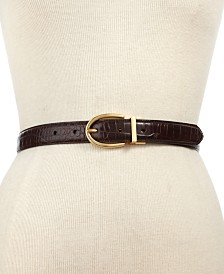 Lauren Ralph Lauren Croc-Embossed Belt