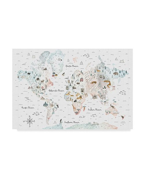 "Trademark Global Laura Marshall World Traveler I Canvas Art - 20"" x 25"""