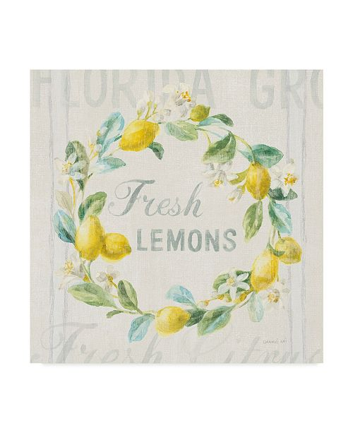 "Trademark Global Danhui Nai Floursack Lemon V Canvas Art - 27"" x 33"""