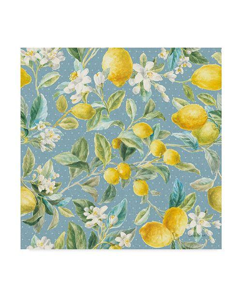 "Trademark Global Danhui Nai Floursack Lemon Pattern Ib Canvas Art - 15"" x 20"""