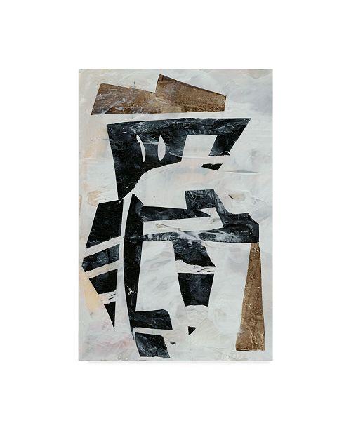 "Trademark Global Jennifer Goldberger Tribal Collage I Canvas Art - 37"" x 49"""