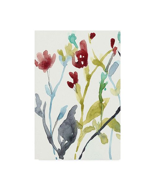 "Trademark Global Jennifer Goldberger Abundant Flowers I Canvas Art - 37"" x 49"""