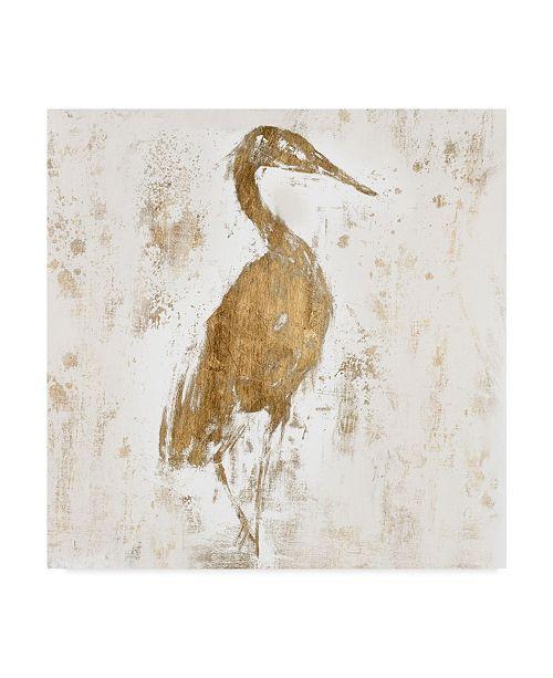 "Trademark Global Jennifer Goldberger Gilded Heron I Canvas Art - 15"" x 20"""