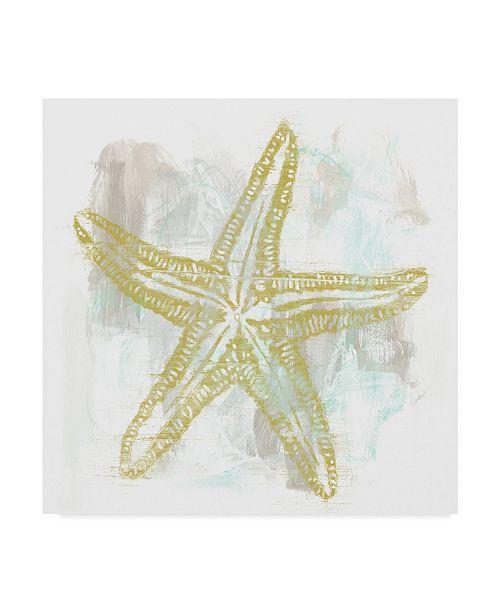 "Trademark Global June Erica Vess Seaside Block Prints IV Canvas Art - 27"" x 33"""