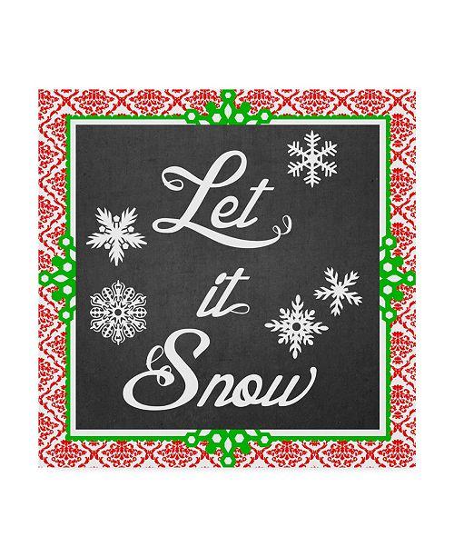 """Trademark Global June Erica Vess Let it Snow Type II Canvas Art - 27"""" x 33"""""""