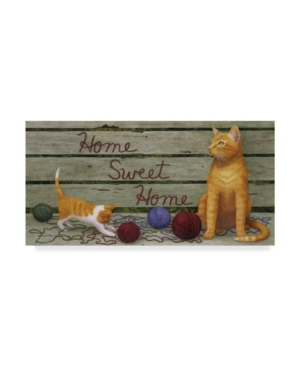 "Marcia Matcham Home Sweet Home Cats Canvas Art - 20"" x 25"""