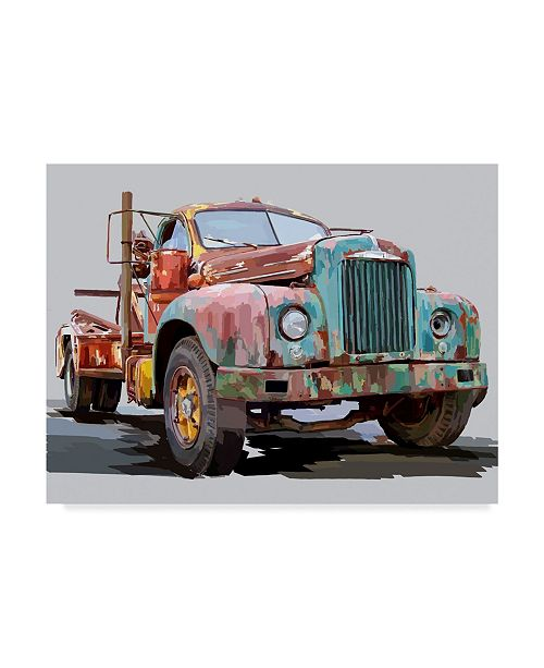 "Trademark Global Emily Kalina Powerful Truck I Canvas Art - 20"" x 25"""