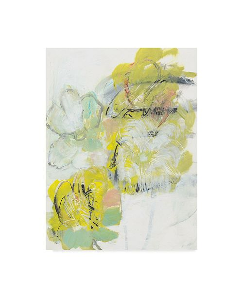 "Trademark Global Jodi Fuchs Yellow Floral Abstract I Canvas Art - 20"" x 25"""