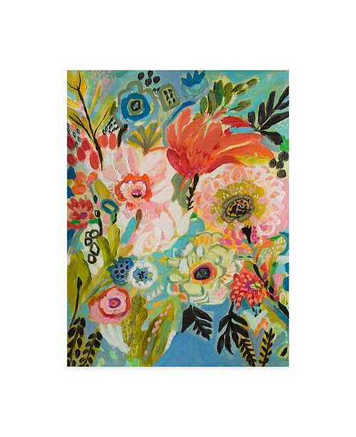 "Trademark Global Karen Fields Secret Garden Floral III Canvas Art - 20"" x 25"""